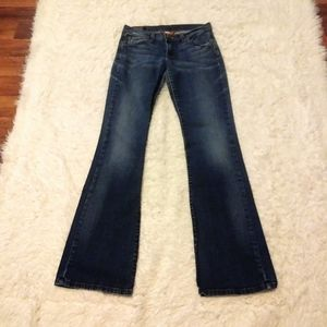Lucky Brand Fleur Carly Distressed Low Rise Jeans